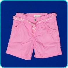 DE FIRMA _ Pantaloni scurti bumbac, talie reglabila H&M _ fetite | 6-7 ani | 122, Marime: Alta, Culoare: Roz, Fete