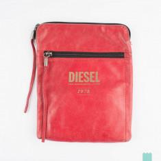 Borseta piele Diesel originala, culoare rosie, noua cu eticheta *Made in Italy* - Borseta Barbati