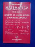 Matematica.Manual pentru clasa a XI-a(vol.II) / Mircea Ganga /  R2P1F, Clasa 11, Mathpress, mast