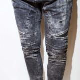 Blugi tip Zara Man- blugi barbati blugi conici blugi negri blugi slim fit cod 54, Marime: 32, Culoare: Din imagine