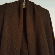 Cardigan fashion - Pulover dama Pull & Bear, Marime: S/M, Culoare: Maro