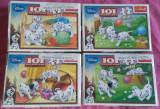 Set 4 Mini Puzzle Trefl 54 piese - 101 Dalmatieni - Disney, 4-6 ani, Carton, 2D (plan)
