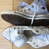 converse all star chuck taylor unisex 42 made in vitnam tenisi albi alb textil