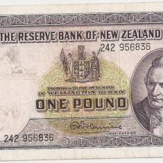 NOUA ZEELANDA 1 POUND LIRA 1956 VF