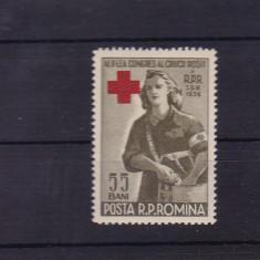 ROMANIA 1956, LP 407, CRUCEA ROSIE, MNH - Timbre Romania, Nestampilat