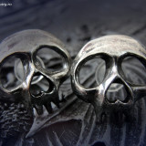 Cercei gotici craniu - Pandantiv fashion
