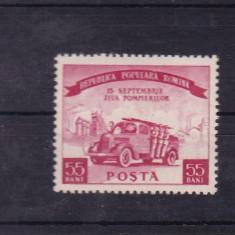 ROMANIA 1955 LP 394 ZIUA POMPIERILOR MNH - Timbre Romania, Nestampilat