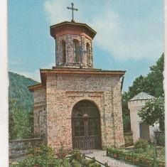 Bnk cp Manastirea Tismana - Paraclisul - necirculata - Carte Postala Oltenia dupa 1918, Printata