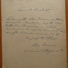 Scrisoare a lui Alice Voinescu, din 1947 - Autograf