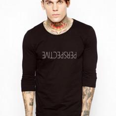 Bluza neagra, barbati, Perspective - Bluza barbati, Marime: S, M, L, XL