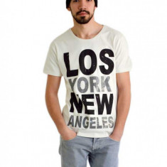 Tricou New York L.A. - Tricou barbati Pull & Bear, Marime: XL