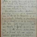 Scrisoare a lui Gala Galaction catre Mihail Sebastian , cu adnotarile ultimului