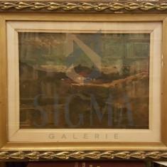 TABLOU, OTTO BRIESE, CASA PE DEALUL ARONEANULUI, U/C, 1925 - Pictor roman