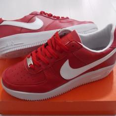 Adidasi Nike Air Force 3 - Adidasi barbati Nike, Marime: 41, 42, Culoare: Rosu, Piele sintetica