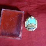 Insigna Parlamentului URSS, metal aurit si email, h= 3, 1 cm