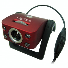 Camera web Logilink 1.3 MP USB 2.0 Red - Webcam