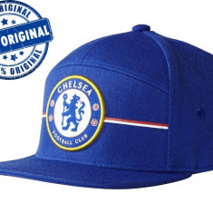 Sapca Adidas Chelsea - sapca originala - fullcap flat brim - Sapca Barbati Adidas, Marime: Marime universala, Culoare: Albastru