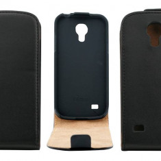Husa Flip Cover OEM THSAMGS4MININEG neagra pentru Samsung Galaxy S4 Mini I9190 - Husa Telefon