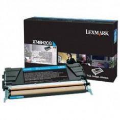 Consumabil Lexmark Consumabil toner pt X748 Cyan High Yield Return Program Toner Cartridge10000 pages