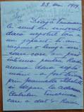Scrisoare exp. din Iasi , adresata Cap. Dorel Davila ,referire la Pastorel ,1919