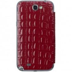 Flip cover Anymode Bamf000Krd Me-In Mirror Croco rosu pentru Samsung Note2 N7100 - Husa Telefon