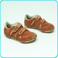 DE FIRMA → Pantofi / adidasi piele, aerisiti+impermeabili, GEOX → baieti | nr 30 - Adidasi copii Geox, Culoare: Corai, Piele intoarsa