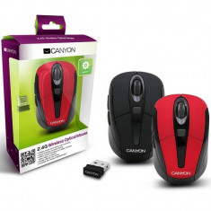 Mouse wireless Canyon CNR-MSOW06R Red, Optica