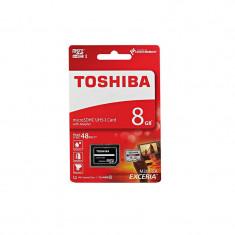 Card Toshiba microSDHC 8GB Clasa 10 cu adaptor SD - Card memorie
