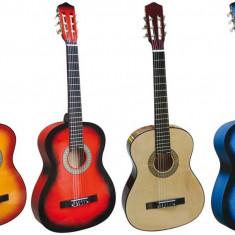 Chitara Acustica cu 6 corzi 90x32cm - Lemn / Pt Incepatori sau copii / Culori