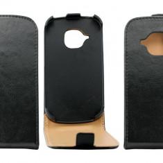 Husa Flip Cover OEM THSAMS3MININEG neagra pentru Samsung Galaxy S3 Mini i8190 - Husa Telefon