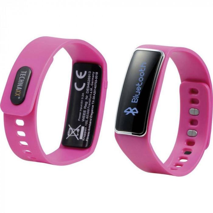 Bratara Fitness TECHNAXX Elegance TX-39 Bluetooth 4.0 roz foto mare