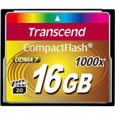Card Transcend Compact Flash 16GB 1000x - Card memorie