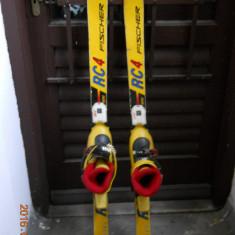 Schiuri Fischer RC4 mini cu legatura Marker si clapari Head Carve X2 ptr.6-7ani - Set ski