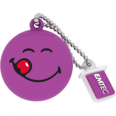 Memorie USB Emtec Smiley World Yum Yum 8GB USB 2.0 Purple - Stick USB