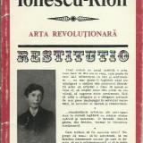 Raicu Ionescu-Rion - ARTA REVOLUTIONARA - Carte Antologie