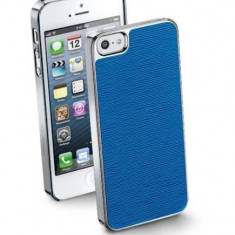 Husa Protectie Spate Cellularline STYLEIPHONE5B Style Blue pentru Apple iPhone 5S / SE - Husa Telefon CellularLine, iPhone 5/5S/SE