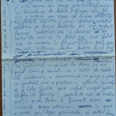 Manuscris Fanus Neagu ; Minereu pentru infern , 4 pagini