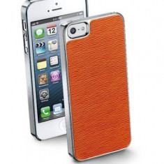 Husa Protectie Spate Cellularline STYLEIPHONE5 Style Orange pentru Apple iPhone 5S / SE - Husa Telefon CellularLine, iPhone 5/5S/SE