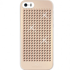 Husa Protectie Spate White Diamonds 86788 The Rock aurie pentru Apple iPhone 5 / 5S - Husa Telefon White Diamonds, iPhone 5/5S/SE