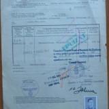 """Certificat de origine marfa ; Consulatul Regal al Romaniei , Duisburg , 194""""1"""