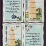 Romania 1997 - Rusca Montana LP 1438 a, timbre cu vigneta x 2 pozitii MNH, Protectia mediului, Nestampilat