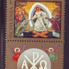 Romania 2010 - Sfintele Pasti LP 1858 d, timbru cu vigneta MNH
