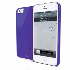 Husa Protectie Spate Muvit MUBKC0602 mov lucios pentru Apple iPhone 5 - Husa Telefon