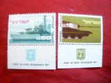 Serie Israel 1969 - Ziua Armatei - 21 Ani , 2 val., Nestampilat