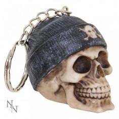 Breloc Craniu cu căciuliță gri - Breloc Dama