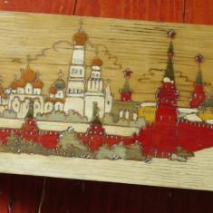 Cutie / caseta din lemn perioada URSS - Kremlin / Moscova - deosebita !!!