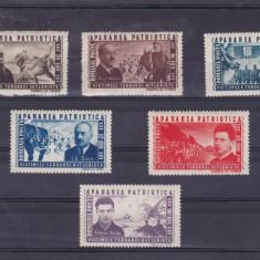 ROMANIA 1945, LP 168, APARAREA PATRIOTICA SERIE MNH - Timbre Romania, Nestampilat