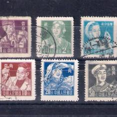 CHINA, PRC - 1956 MI. 297-305 SERIE STAMPILATA - Timbre straine