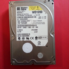 HDD 120 GB / Hard Disk Western Digital 3.5 inch IDE 120GB WD WD1200 - 99% functional, 100-199 GB