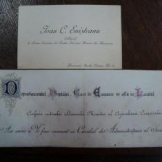 Carte de vizita si mostra de caligrafie Ioan Enisteanu